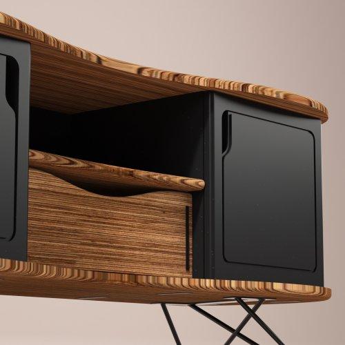 meuble télé design noir Augustine 140 cm UN CHAT DANS LE TIROIR (7)