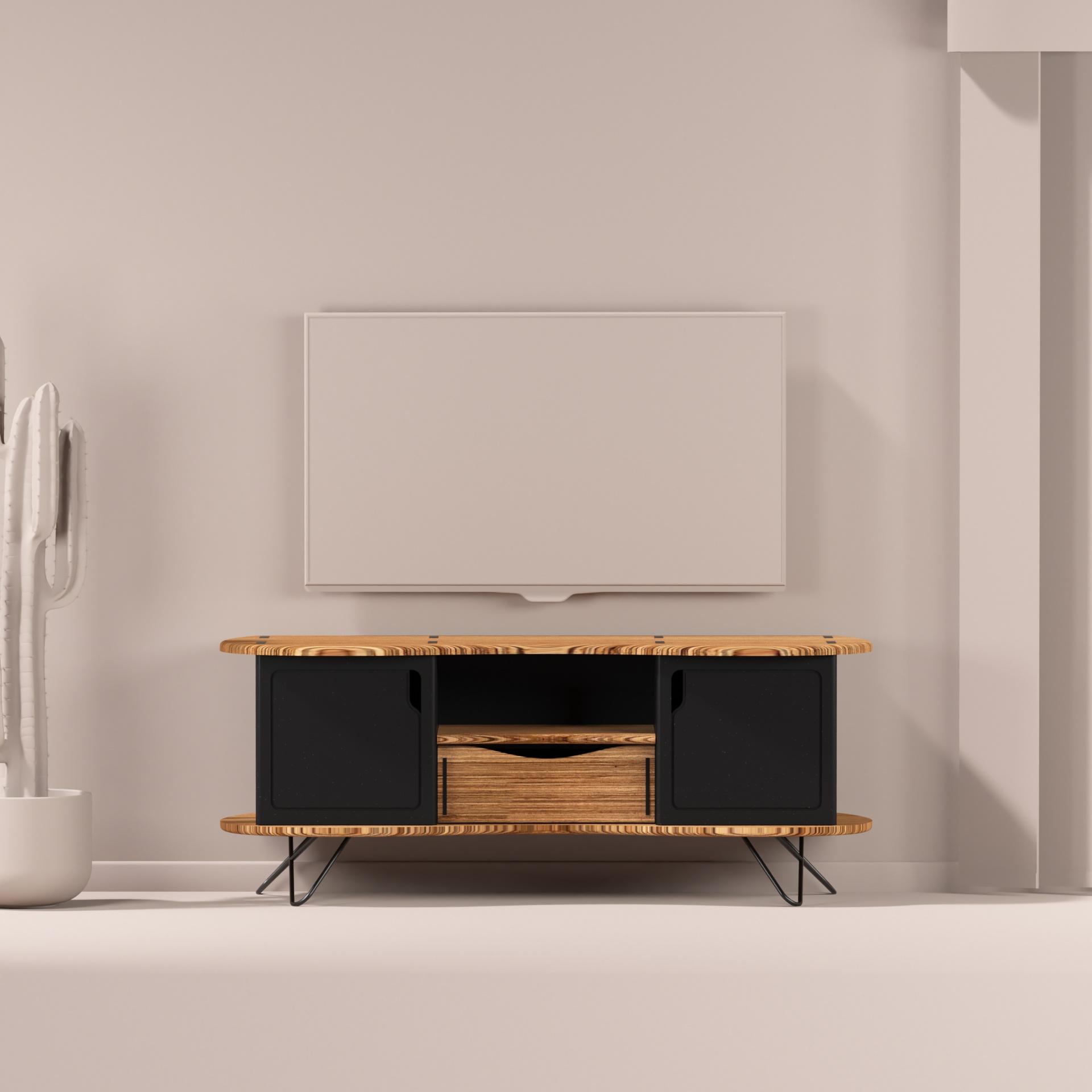 meuble télé design noir Augustine 140 cm UN CHAT DANS LE TIROIR (1)