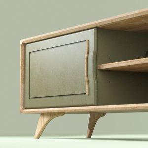 grand meuble de couleur tv design en chêne Bernadette 180