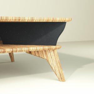 Yvette table basse noir design et éthique de 90 cm